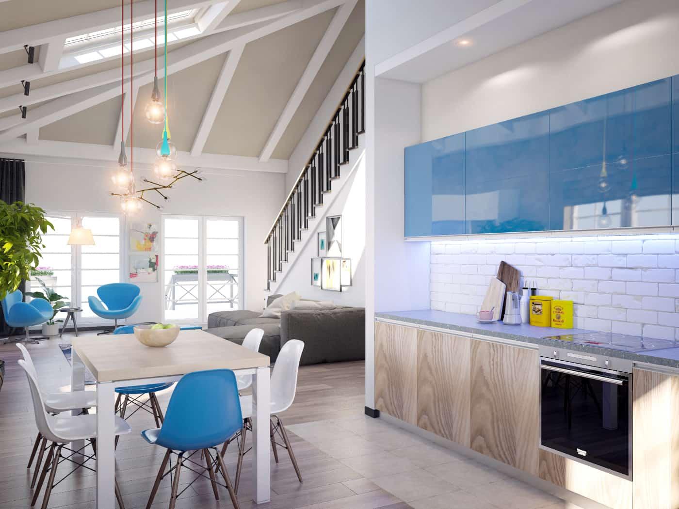 кухня, общий вид интерьера